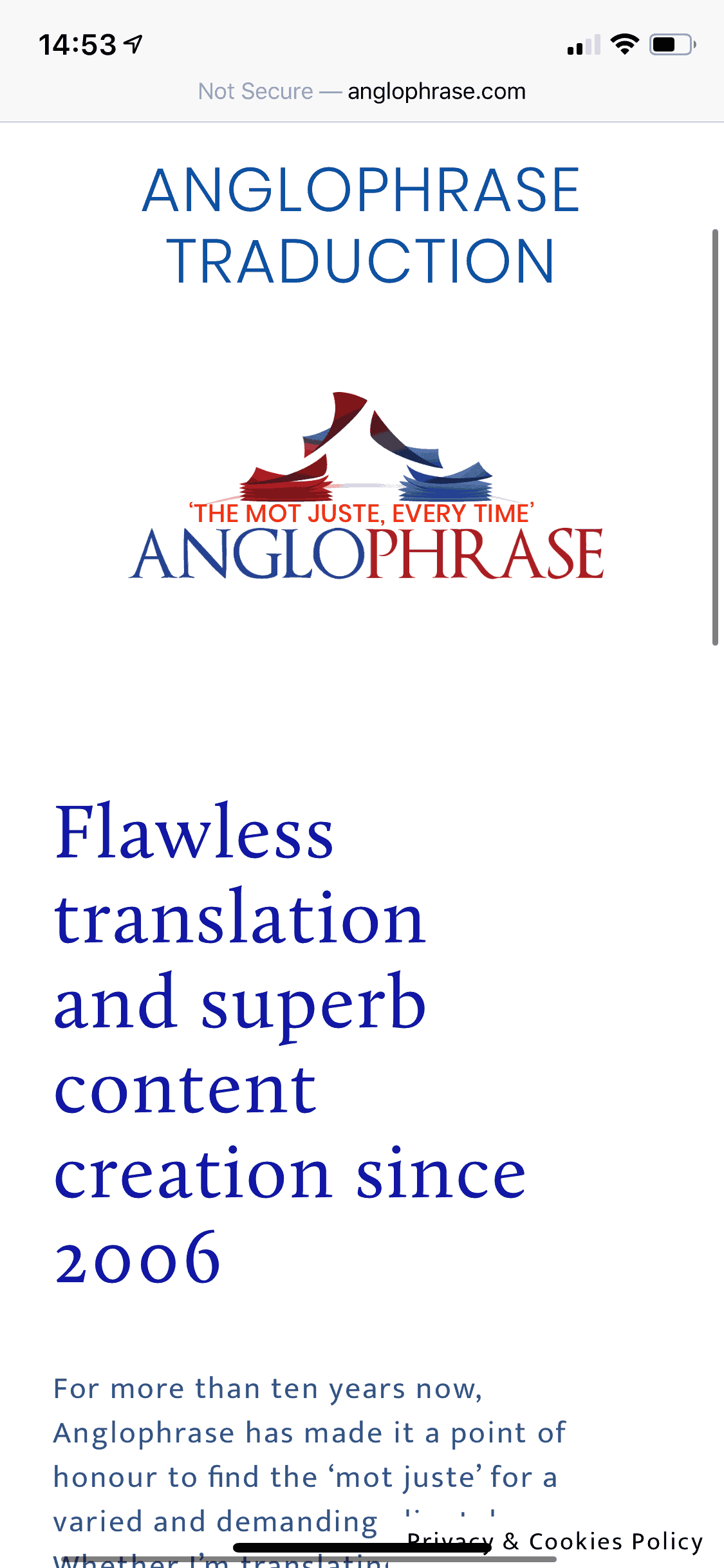 Anglophrase mobile