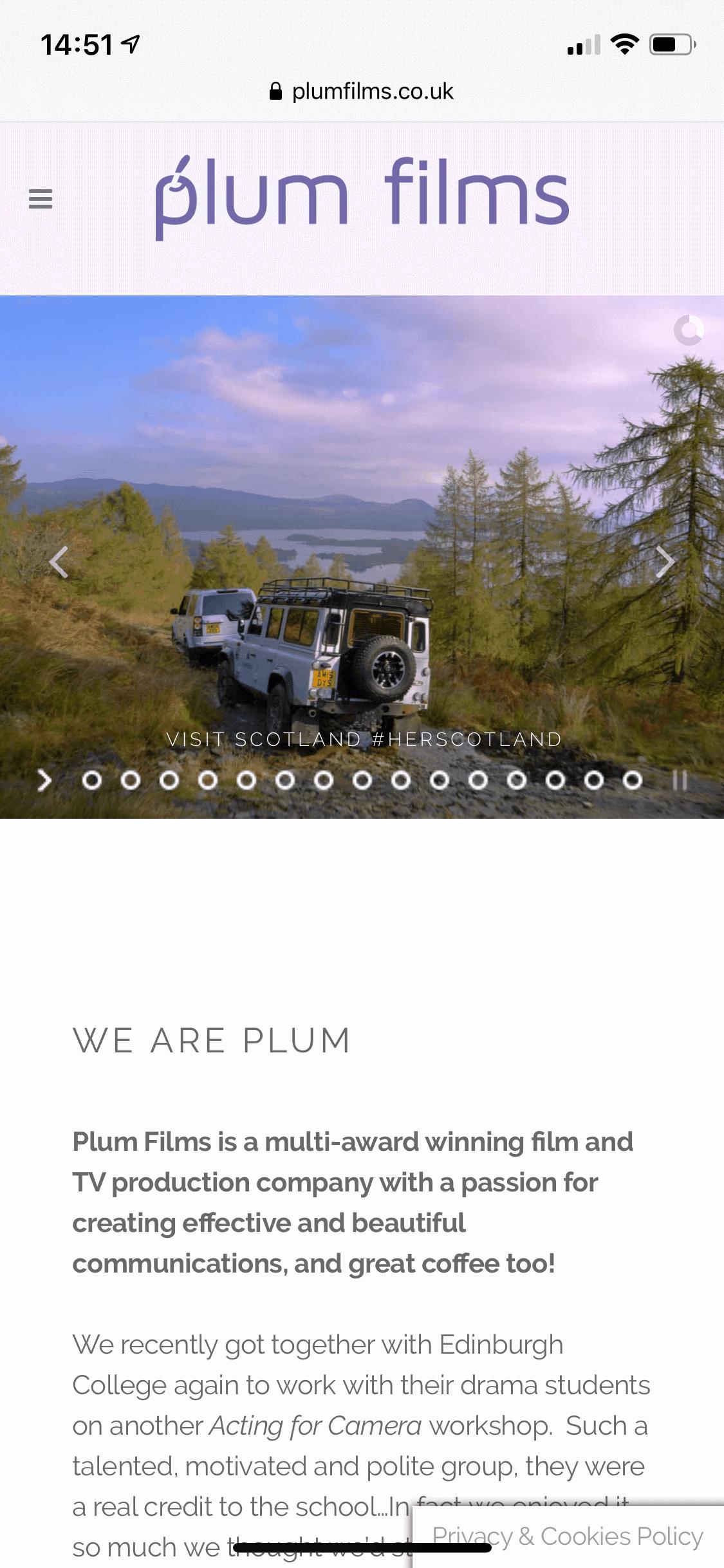 Plum films mobile