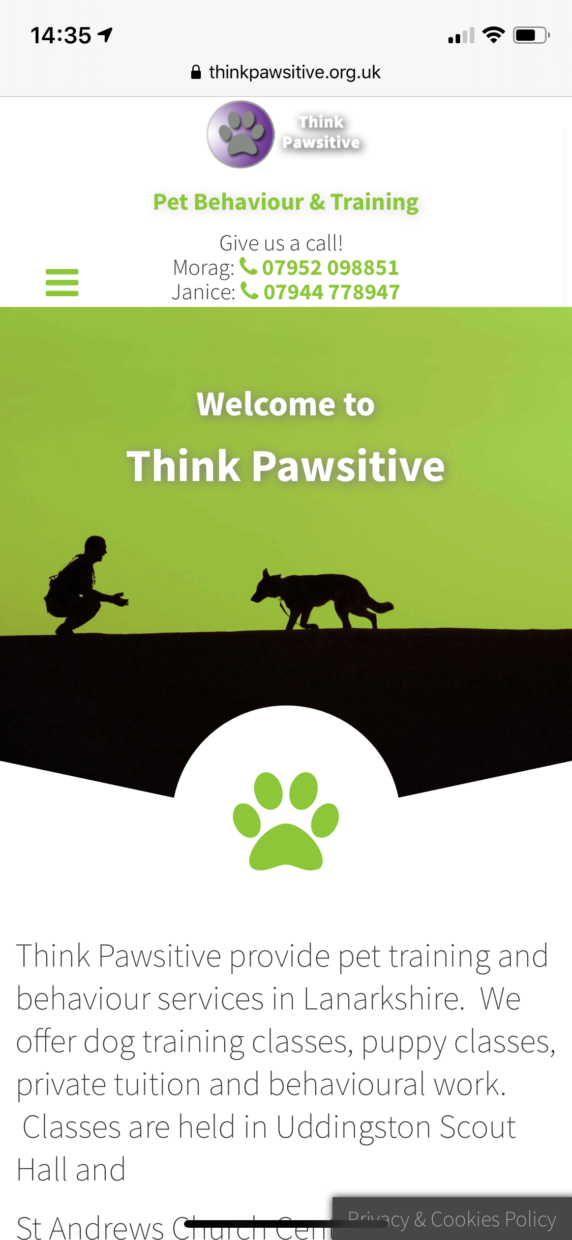 Think Pawsitive Mobile